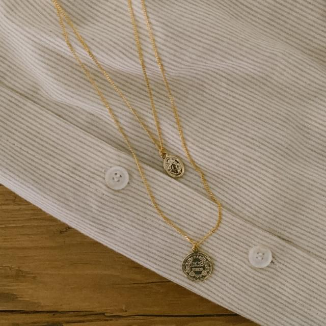 Coin pendant layered necklace 項鍊