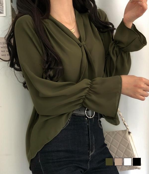 Xavier scarf blouse 襯衫
