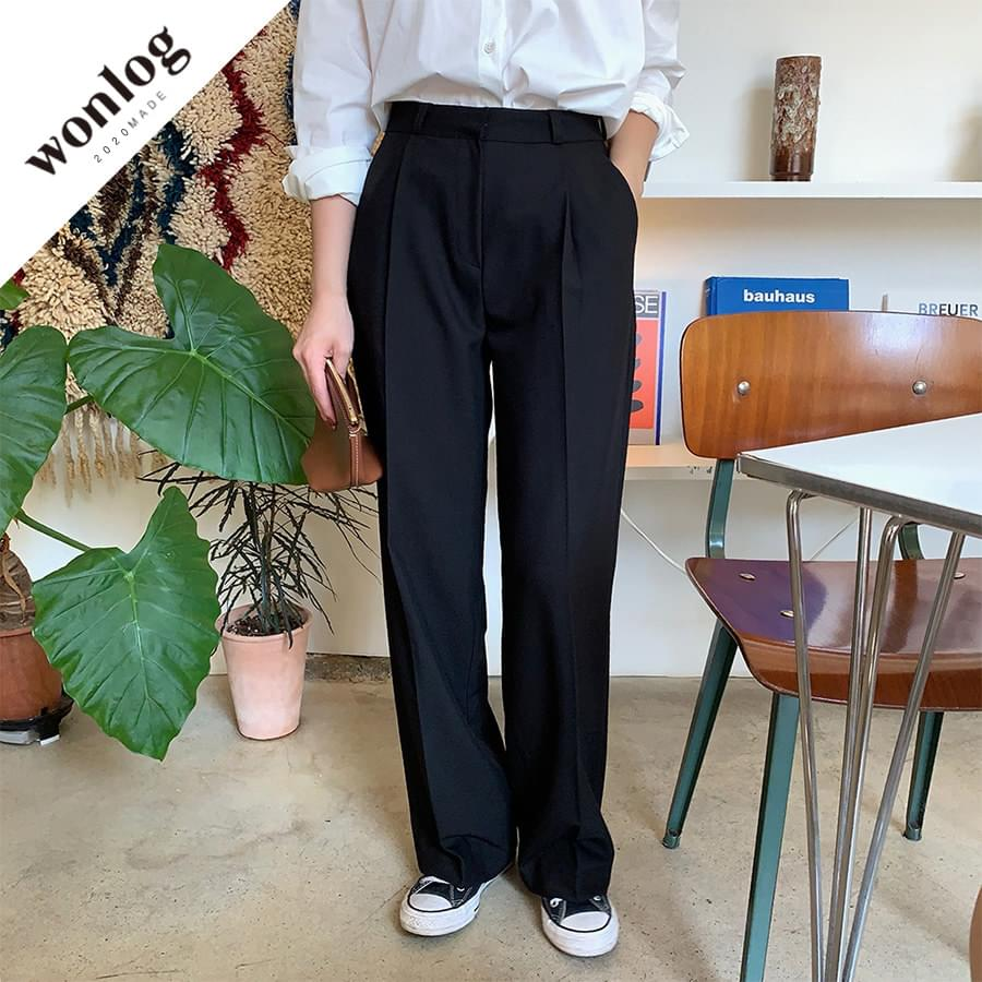 Autumn pintuck slacks; Short length