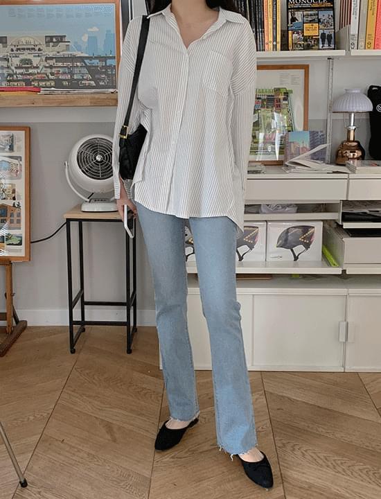 韓國空運 - Rongrong Flared jeans 牛仔褲