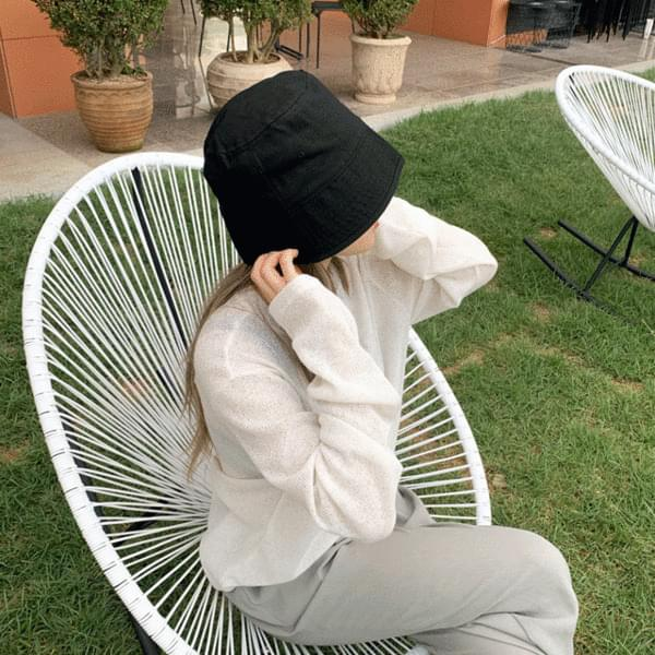 Unisex Cotton Basic Square Bucket Hat Hat