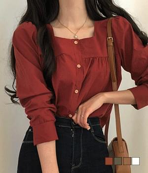 Fall square blouse