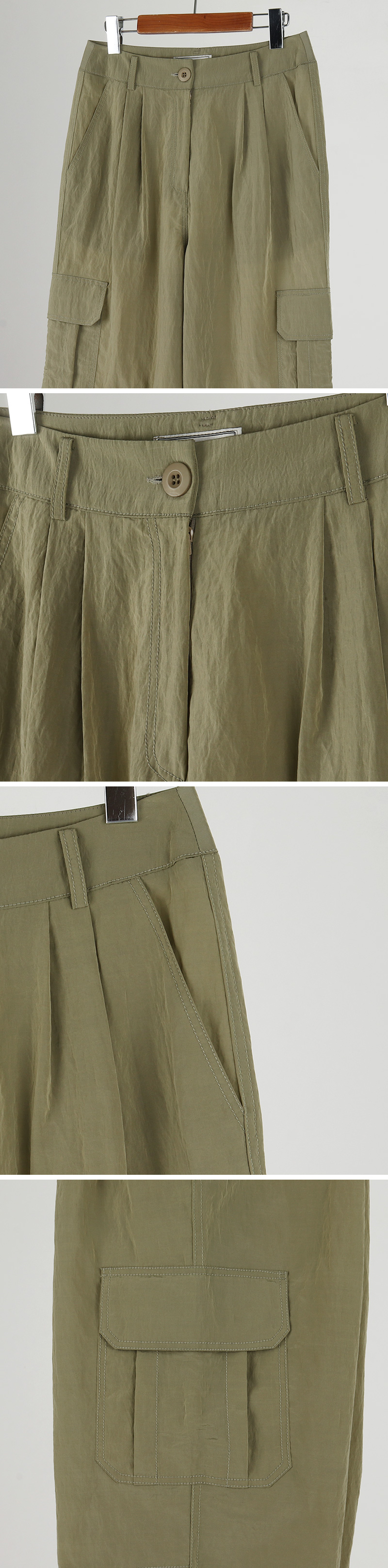 Running Cargo Pin Tuck Pants