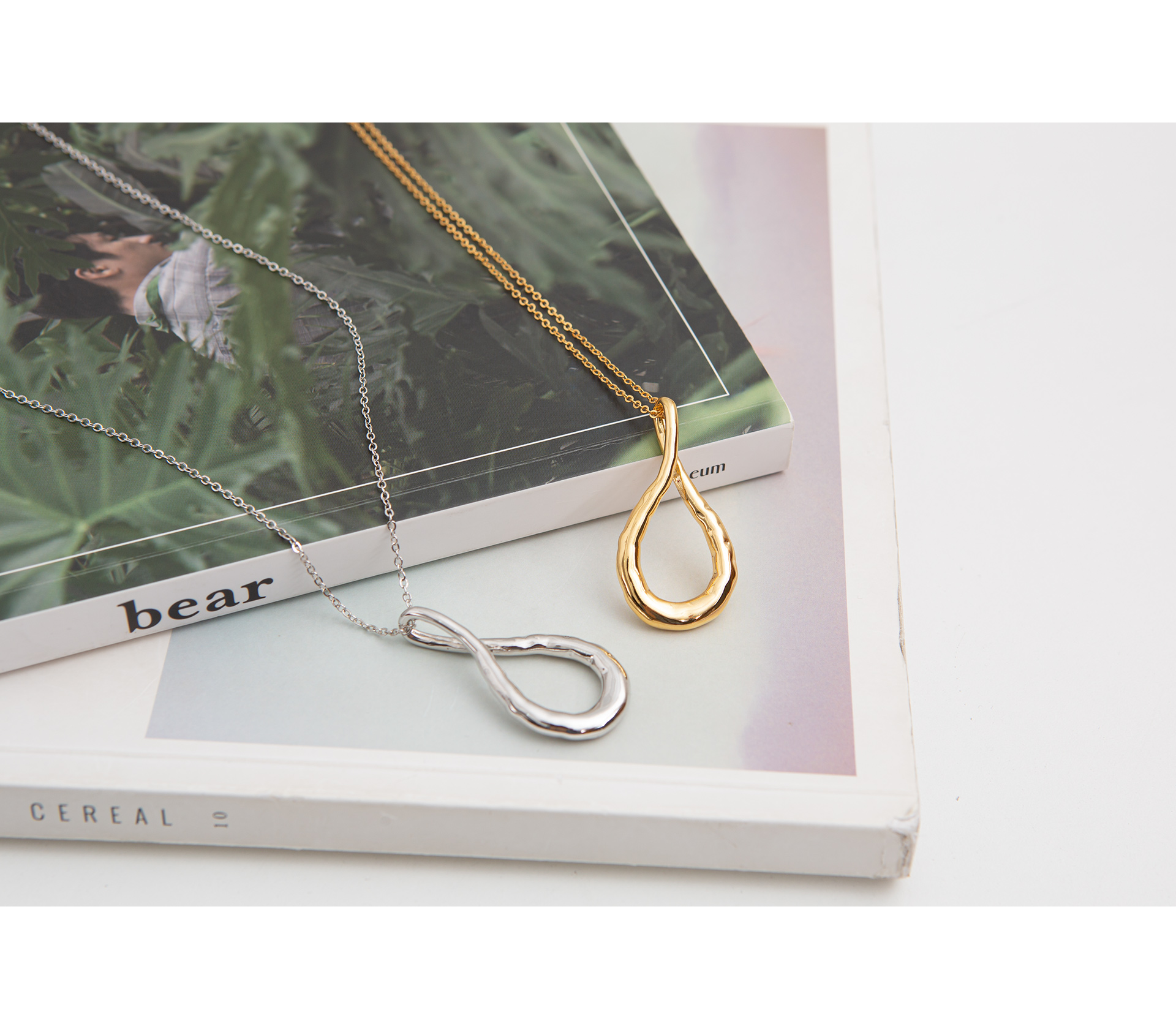 Daily empty drop long necklace #86244
