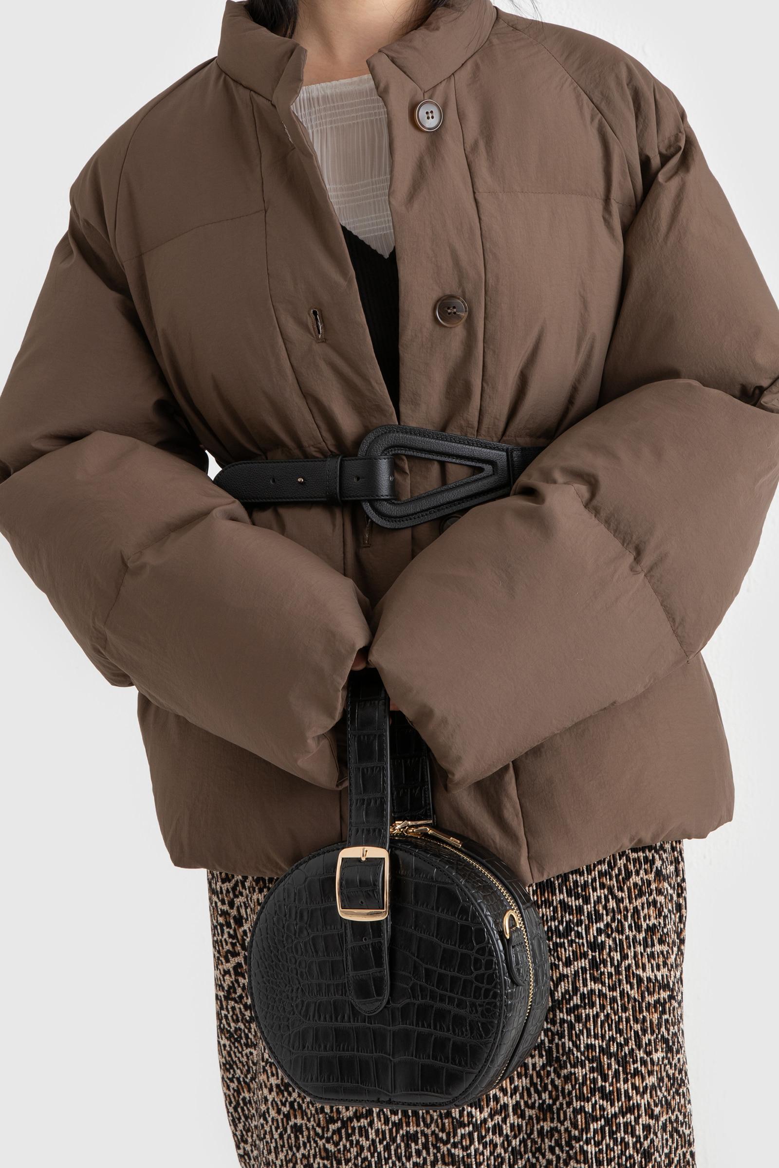 Round animal pattern two-way tote bag