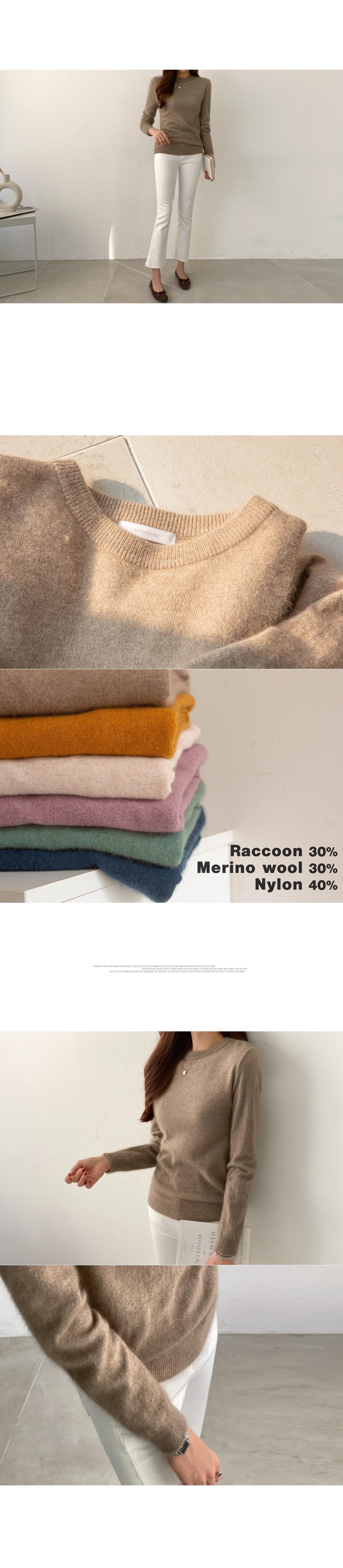Daily raccoon wool knit #107833