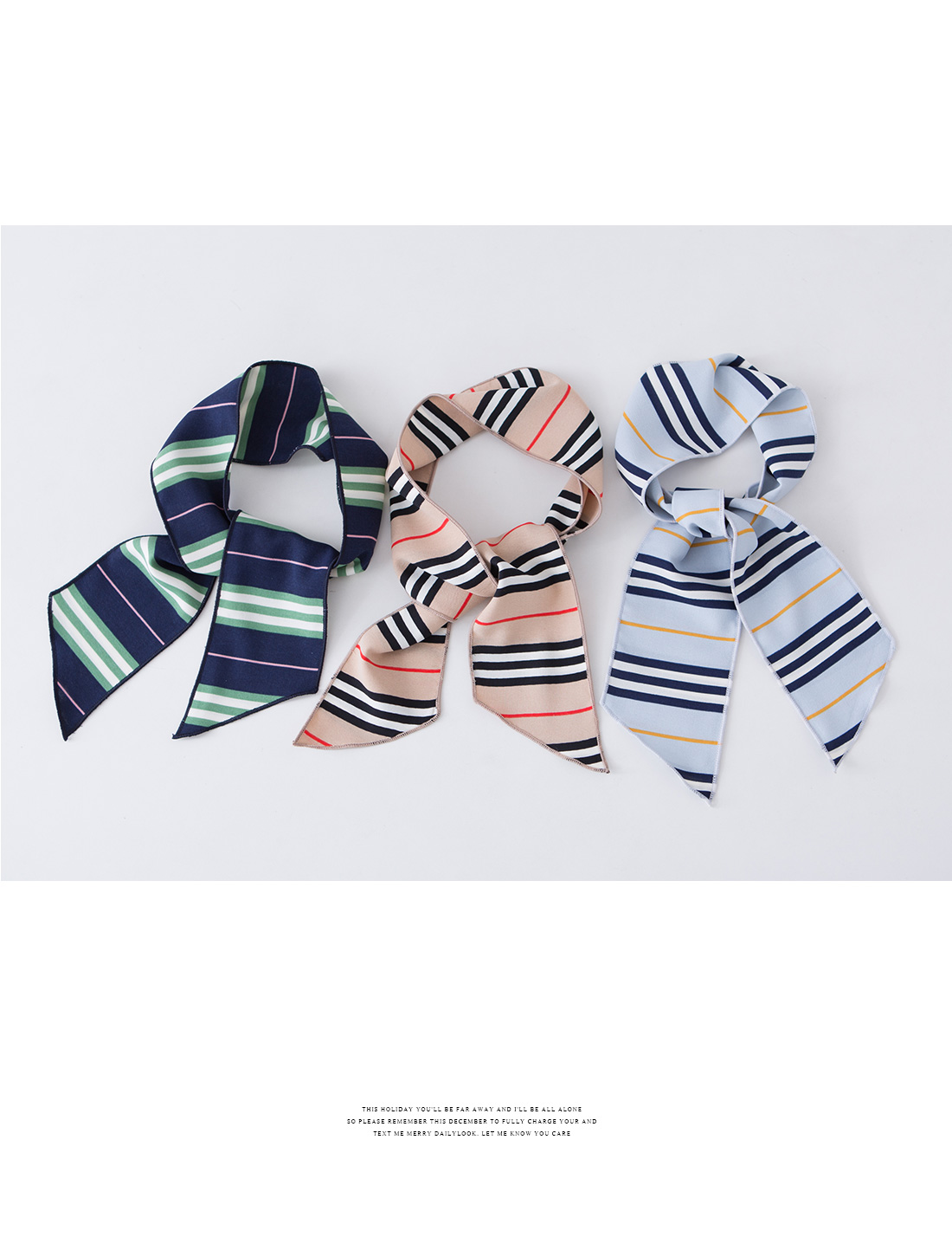 Lined color tie scarf #85087