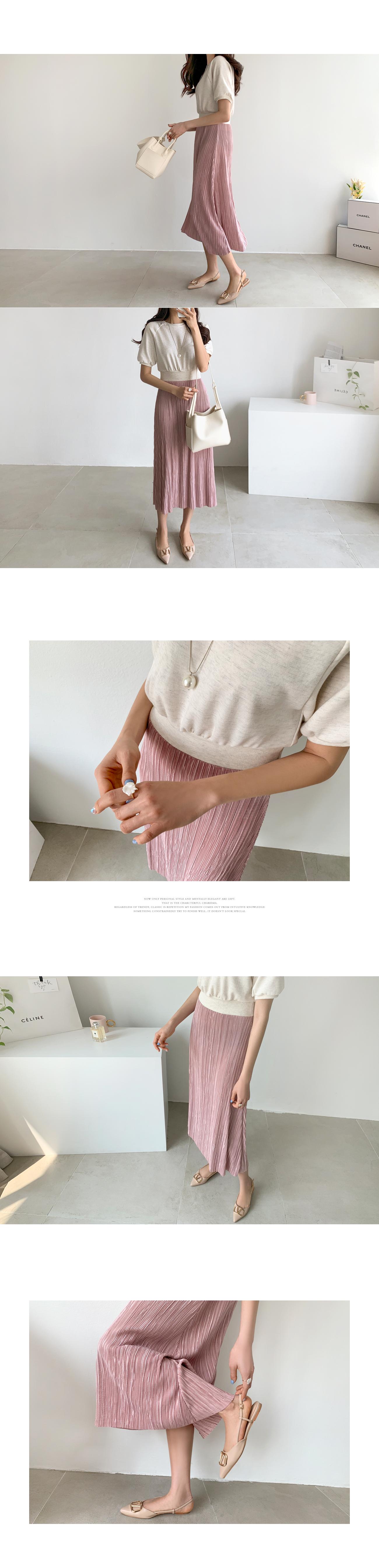 2-in-1 wrinkle long dress #37491