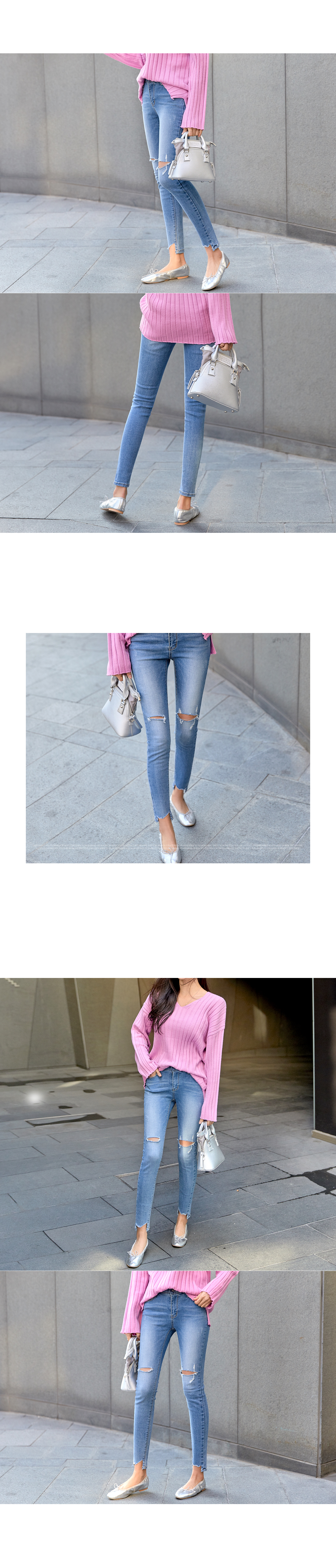 Natural cutting inner banding pants #75120