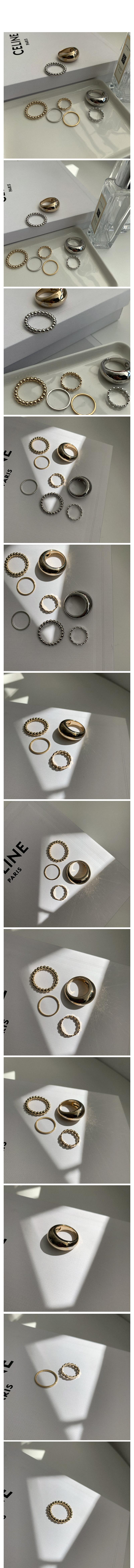 粗細漸變造型戒指4件組