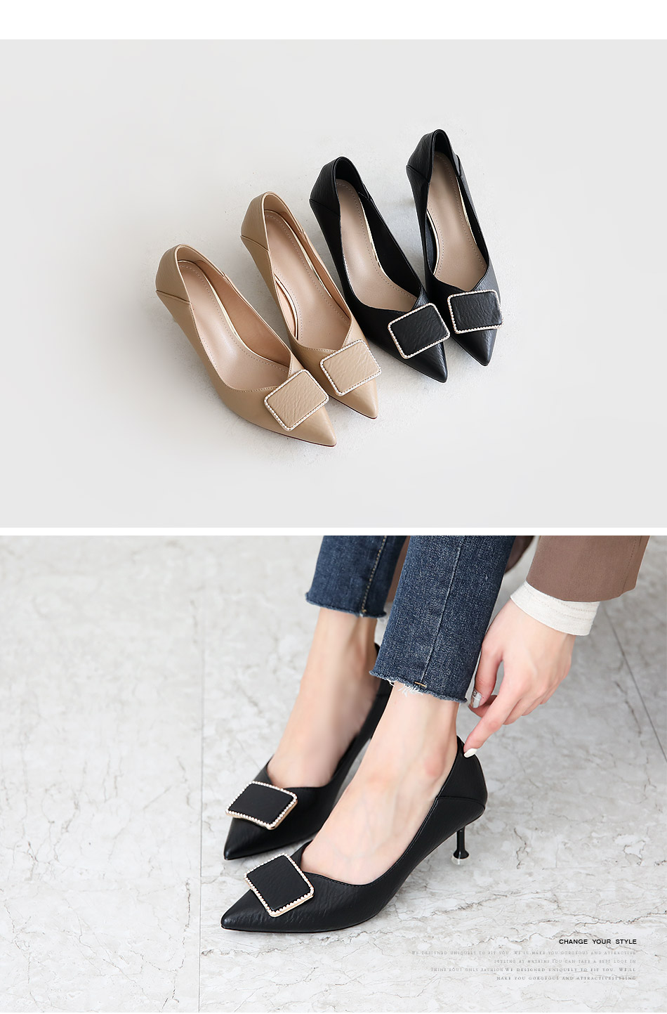 Tipence Middle Hill Pumps 6cm