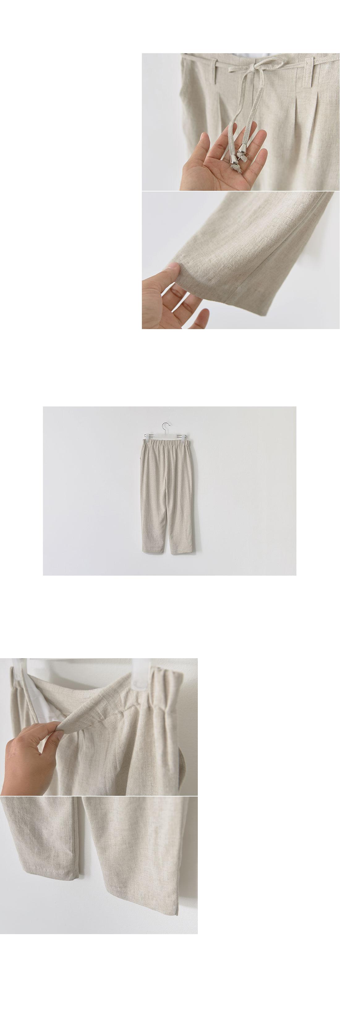 Kies rear banding string pintag slacks #73001