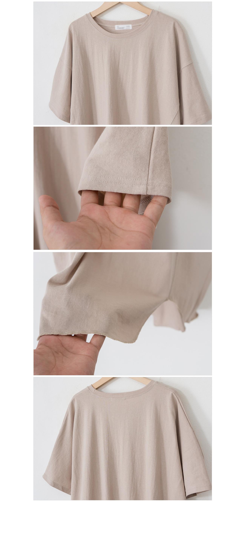 Side Split Loose Fit Basic T-shirt #107304