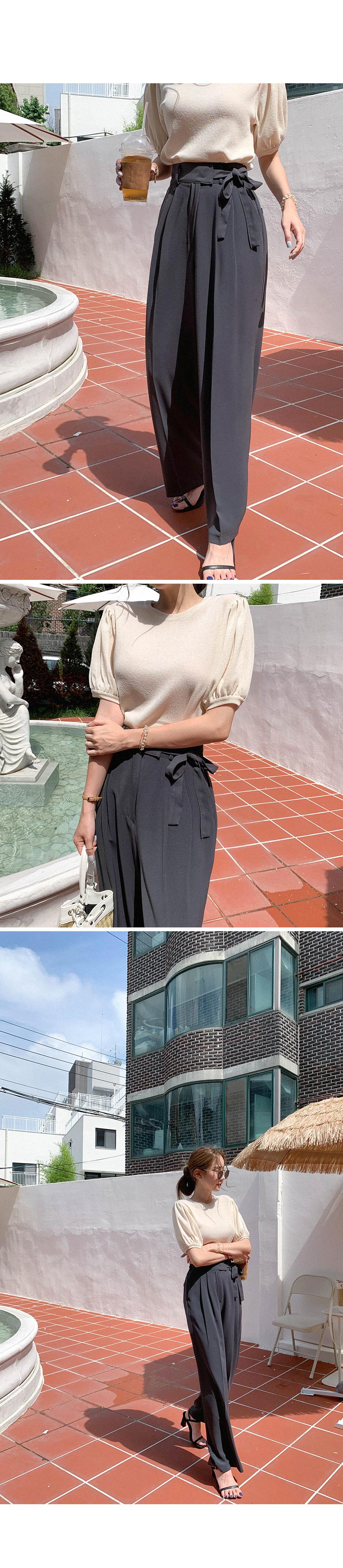Artistic fit wide strap slacks