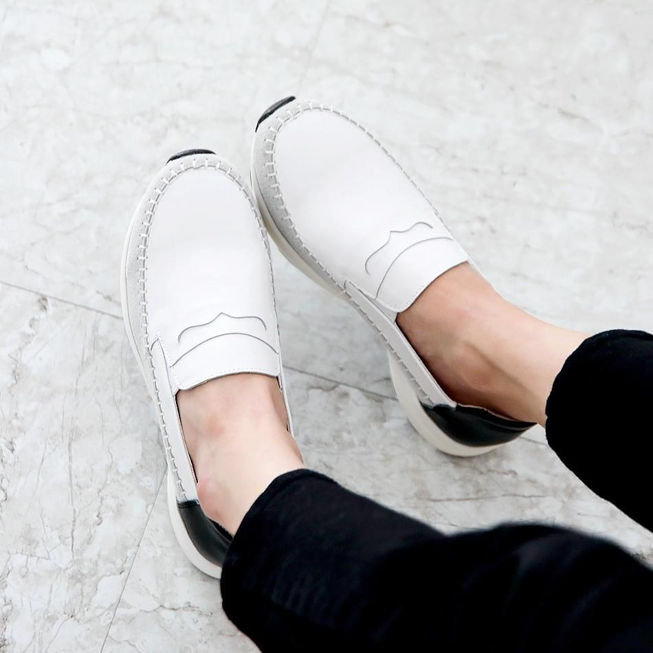 Renovated Leather Tall Slip-on 4cm