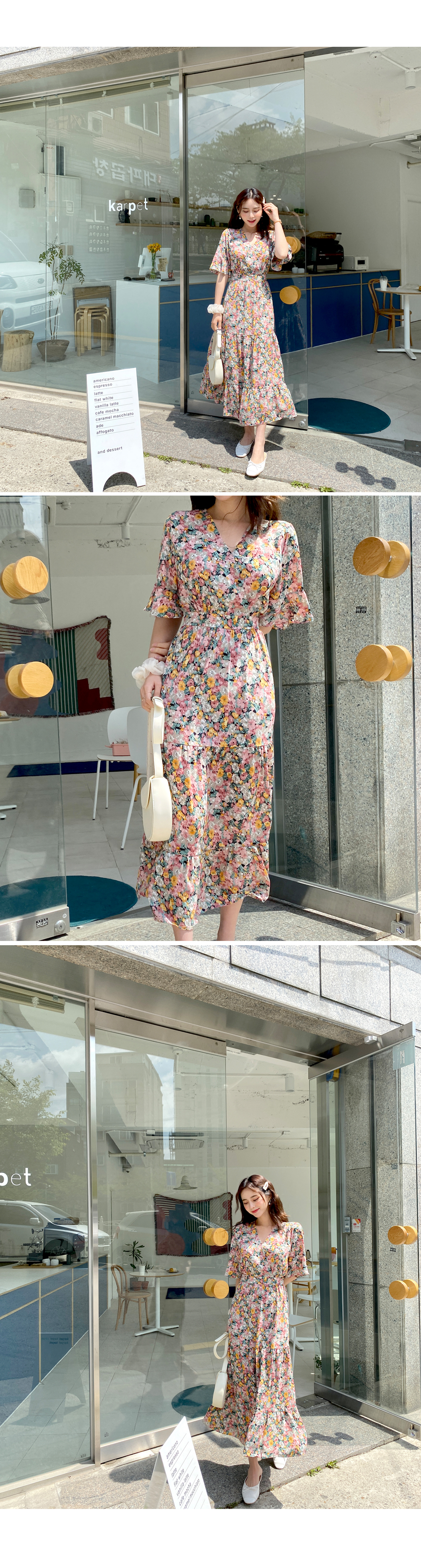 Exciting flower long dress
