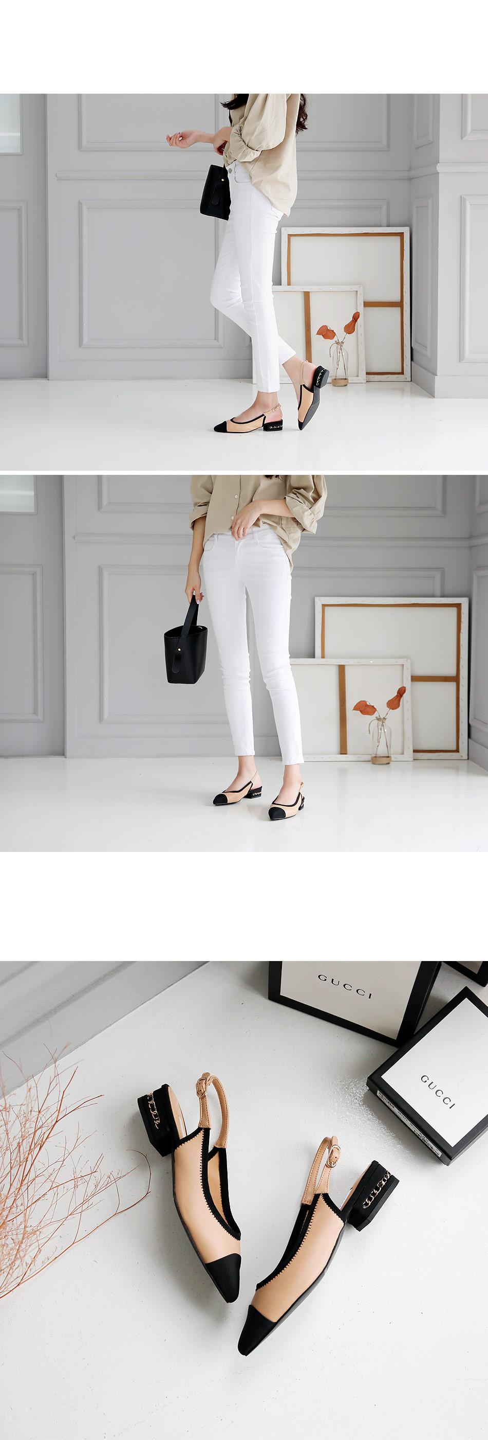 Charlene Slingback Flat Shoes 3cm