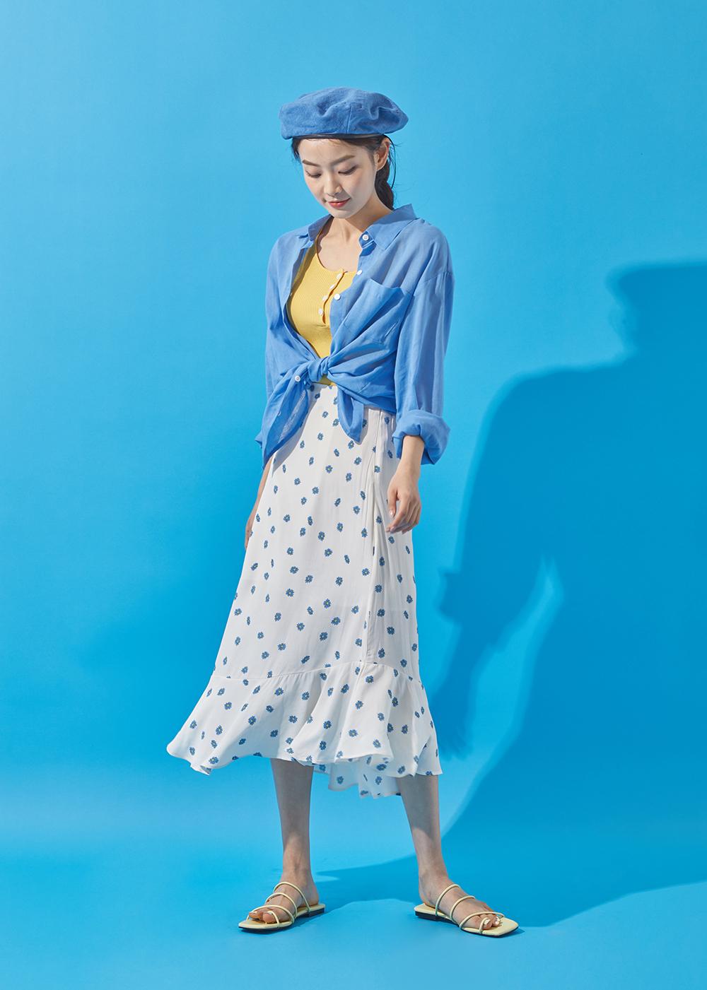 Blossom ruffle skirt