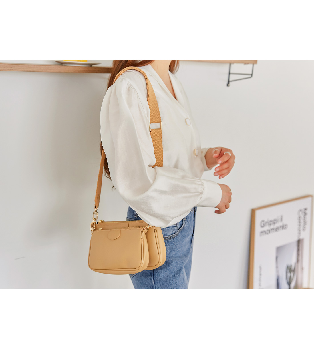 LIPA 2 WAY WEBBING STRAP BAG