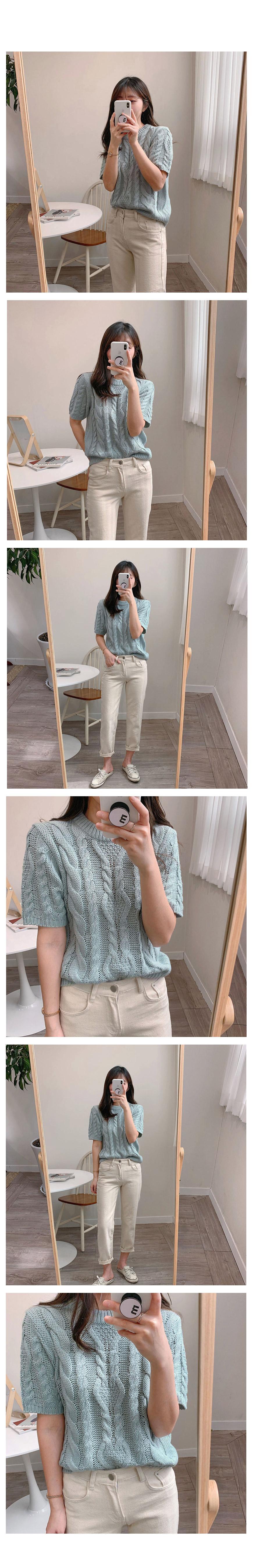 Butterling short-sleeved knit-2color