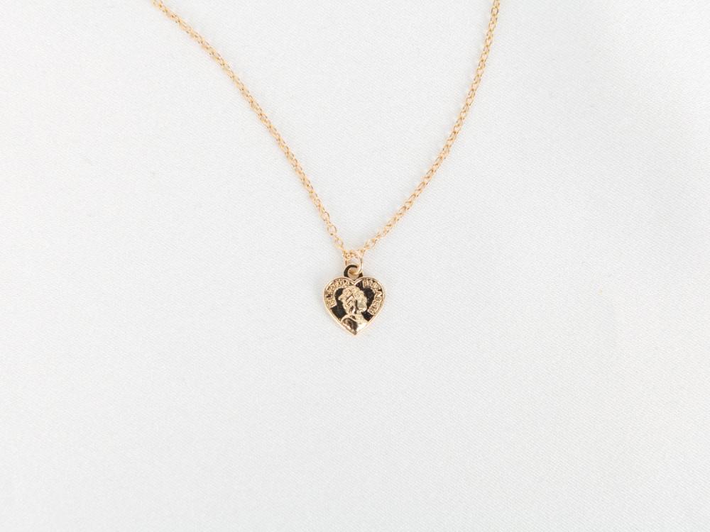 Maria Heart Coin Necklace