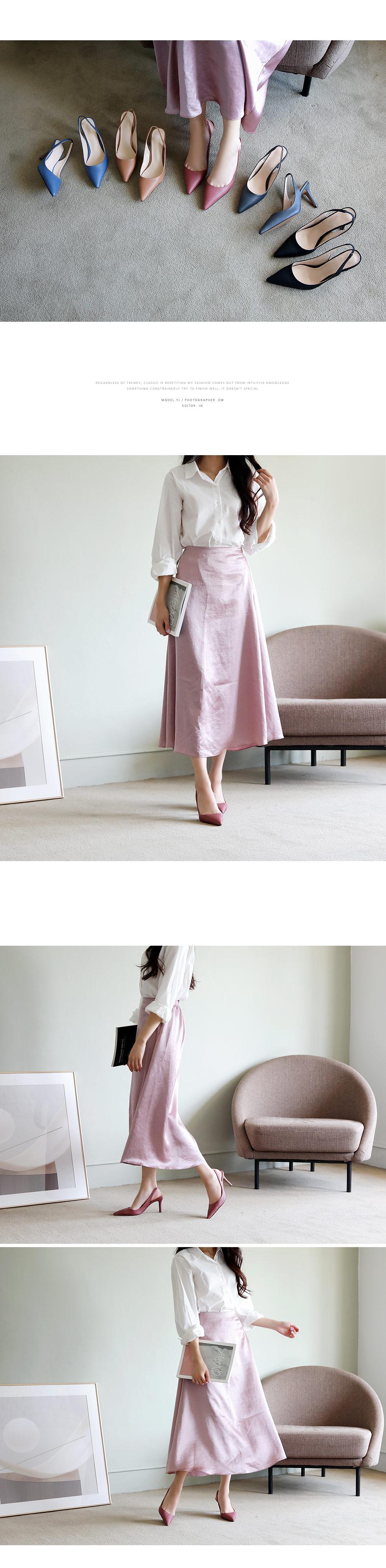Four piano slingback heel 8cm
