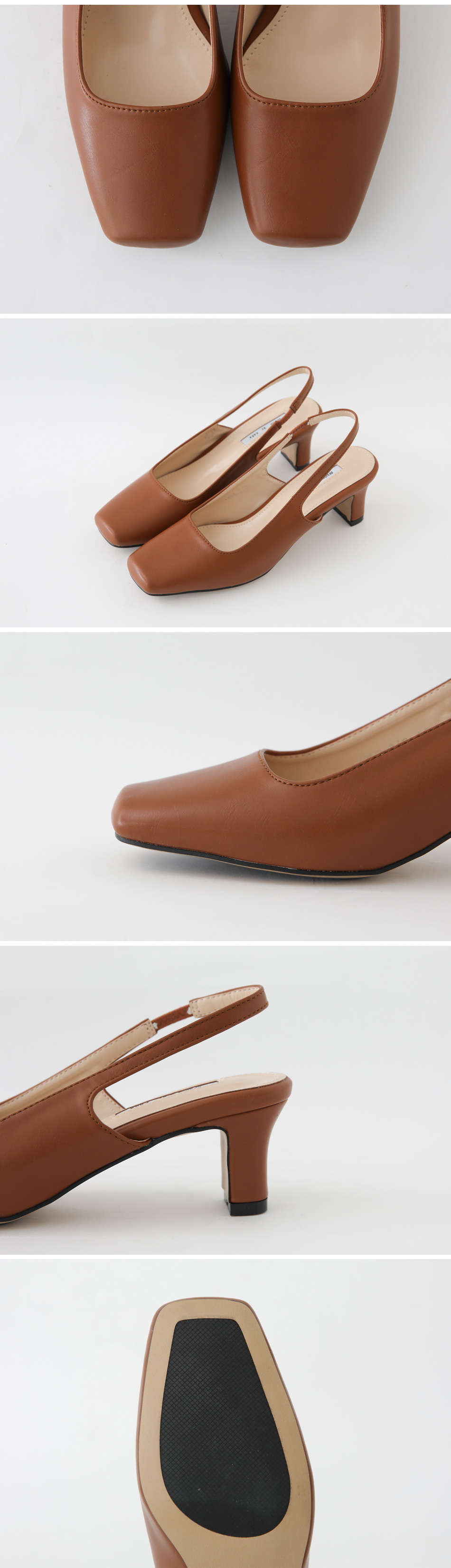 Keloth Slingback Middle Heel Pumps 6cm