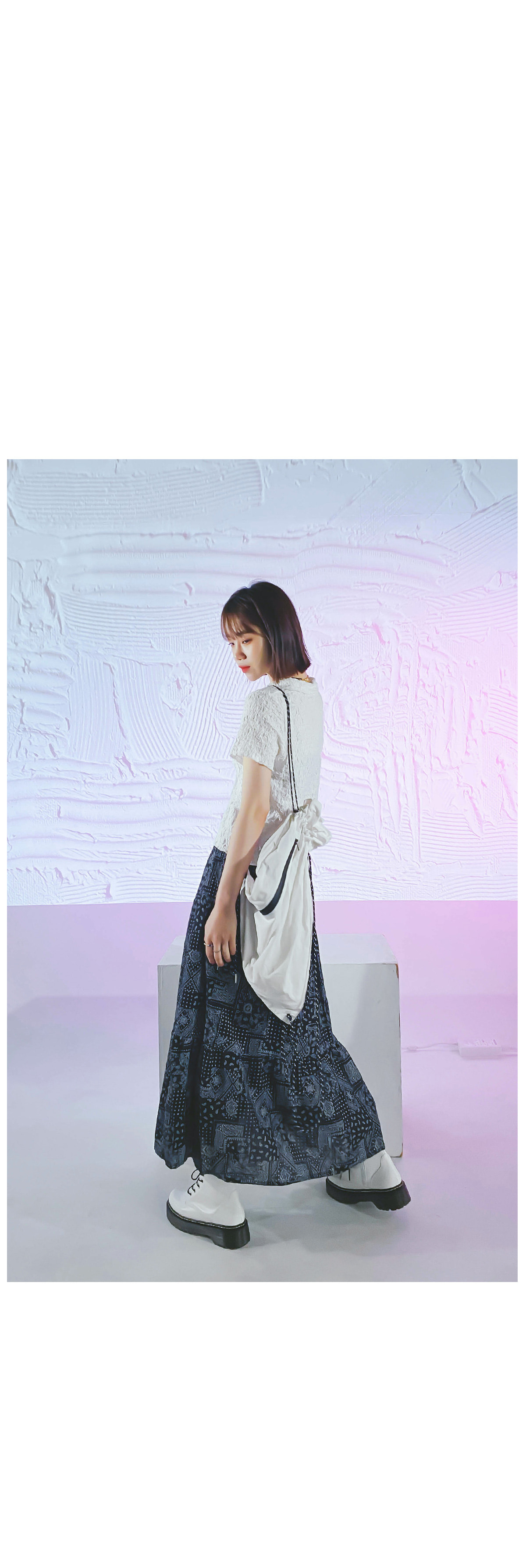Bandana Lona Long Skirt