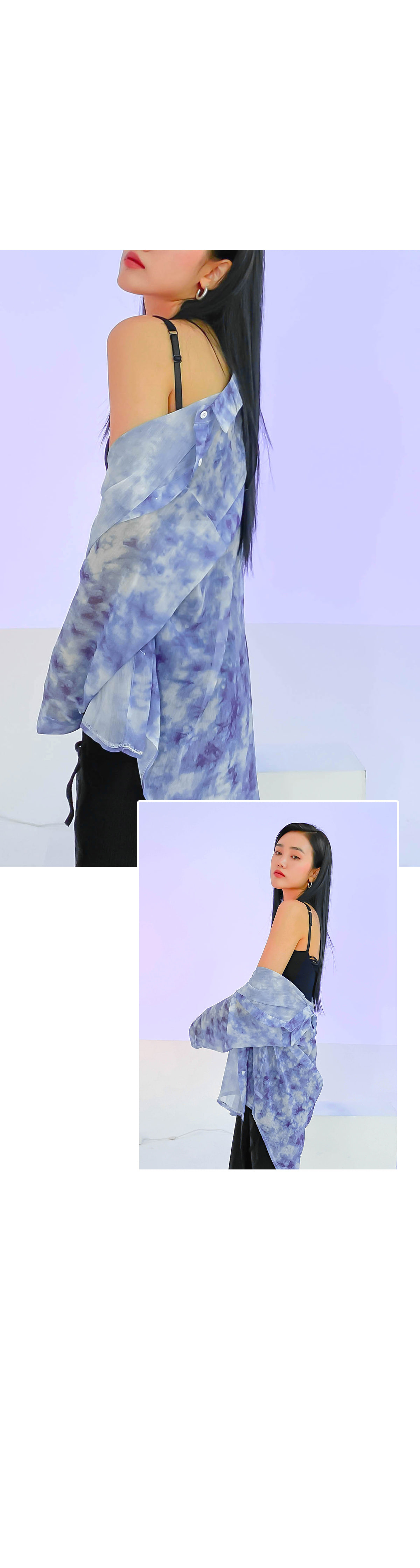 See-through Bella tie-dye shirt