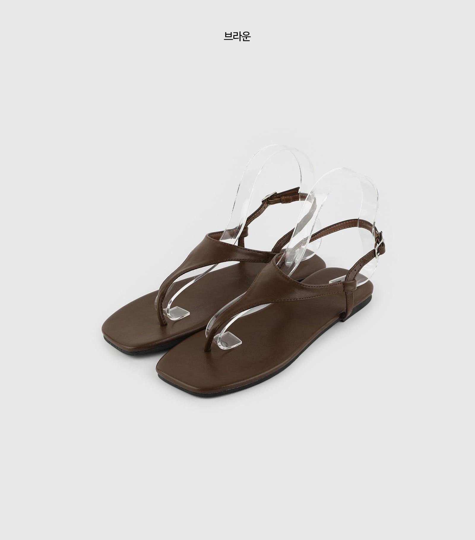 Mile strap flip flop sandals