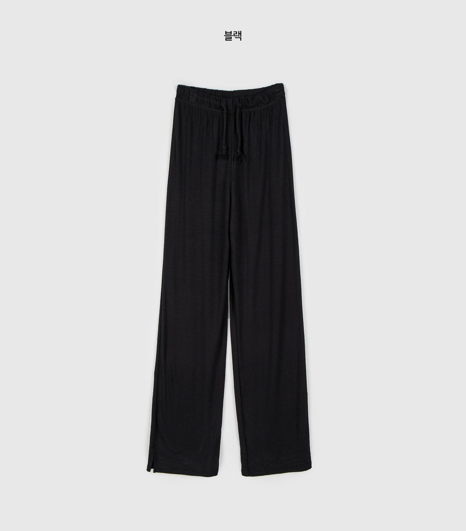 Summer slit banding training pants