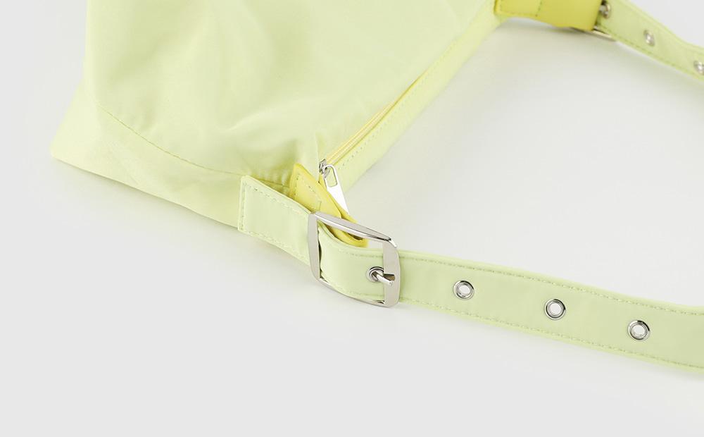 Painted buckle shoulder bag