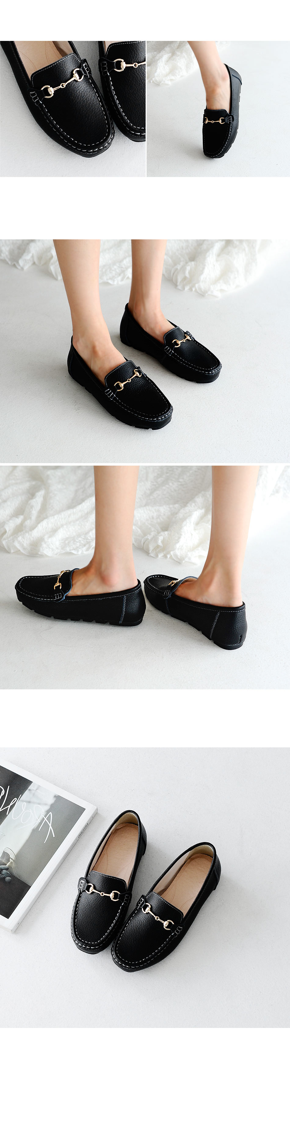 Retail Leather Tall Loafers 3cm