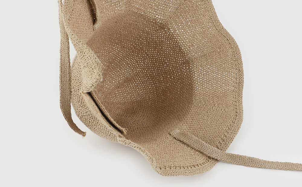 Strap paper bucket hat