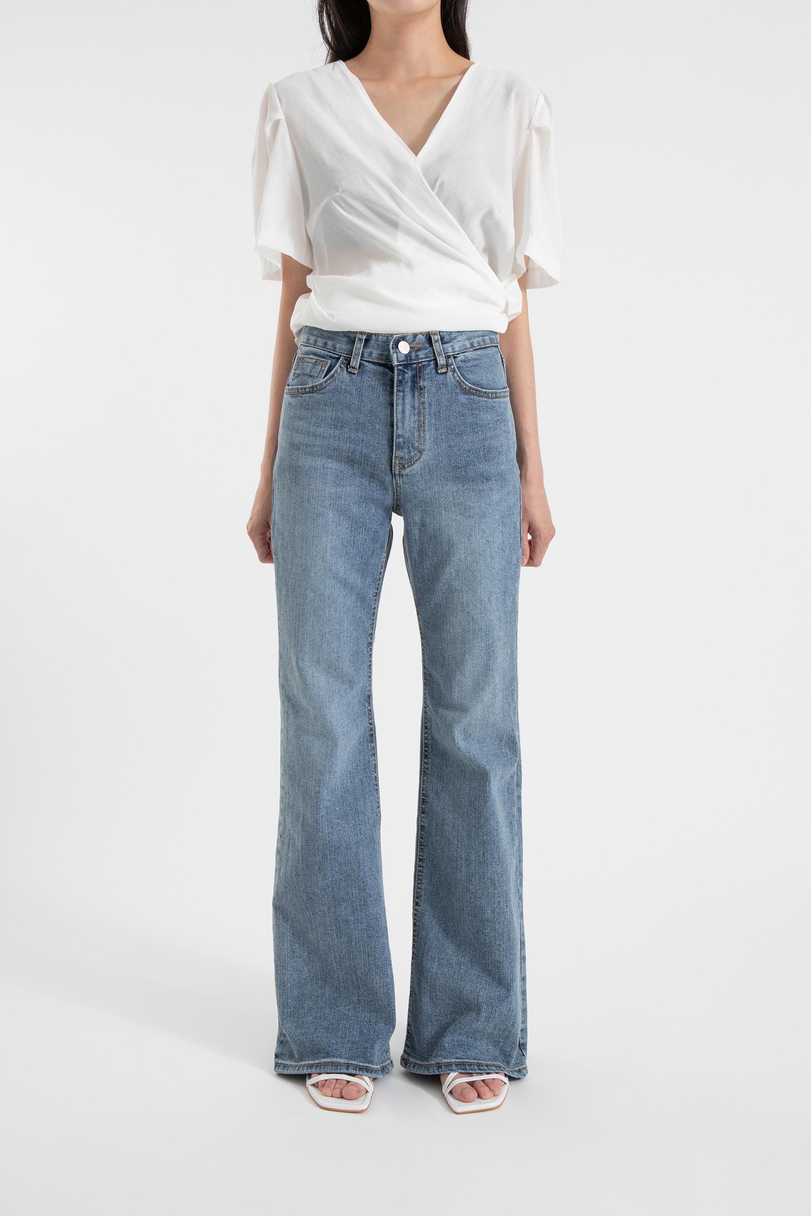Saint high-rise bootcut jeans