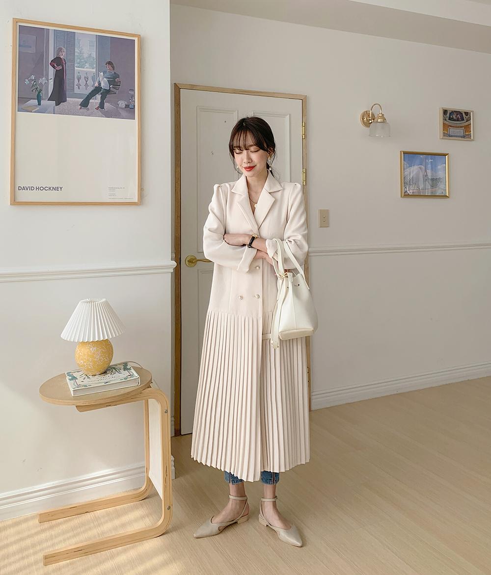 Pleated double mood dress