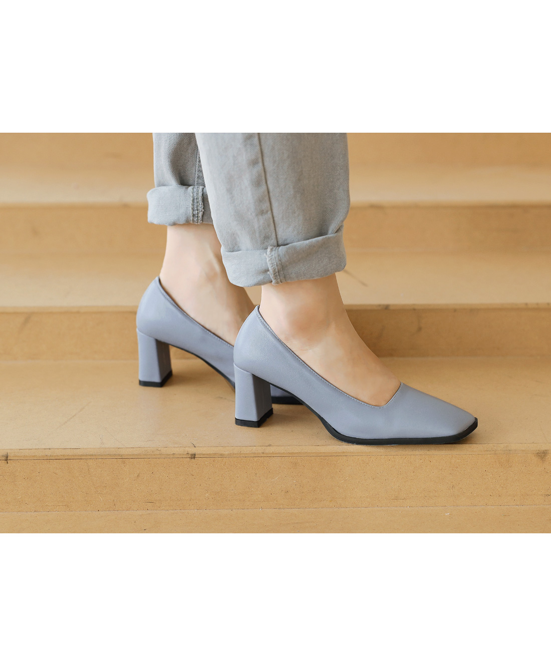 MARIS UNBAL SQUARE HEEL