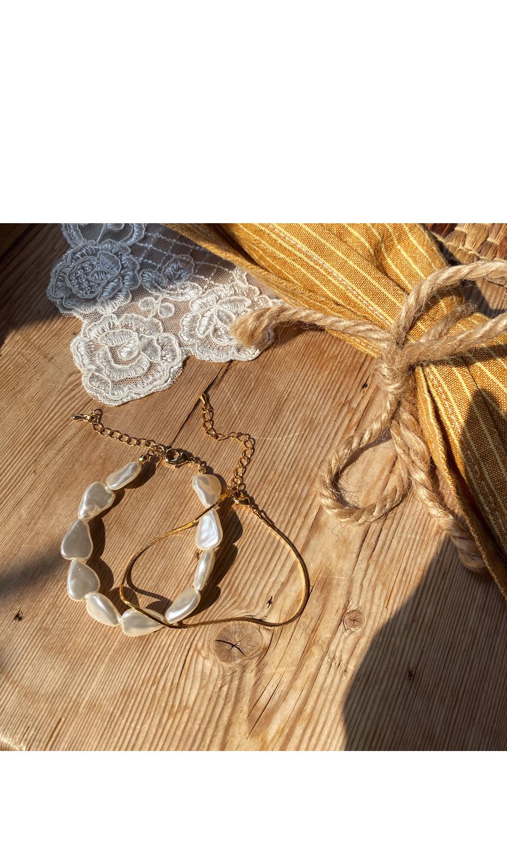 Summer Pearl Layered Bracelet