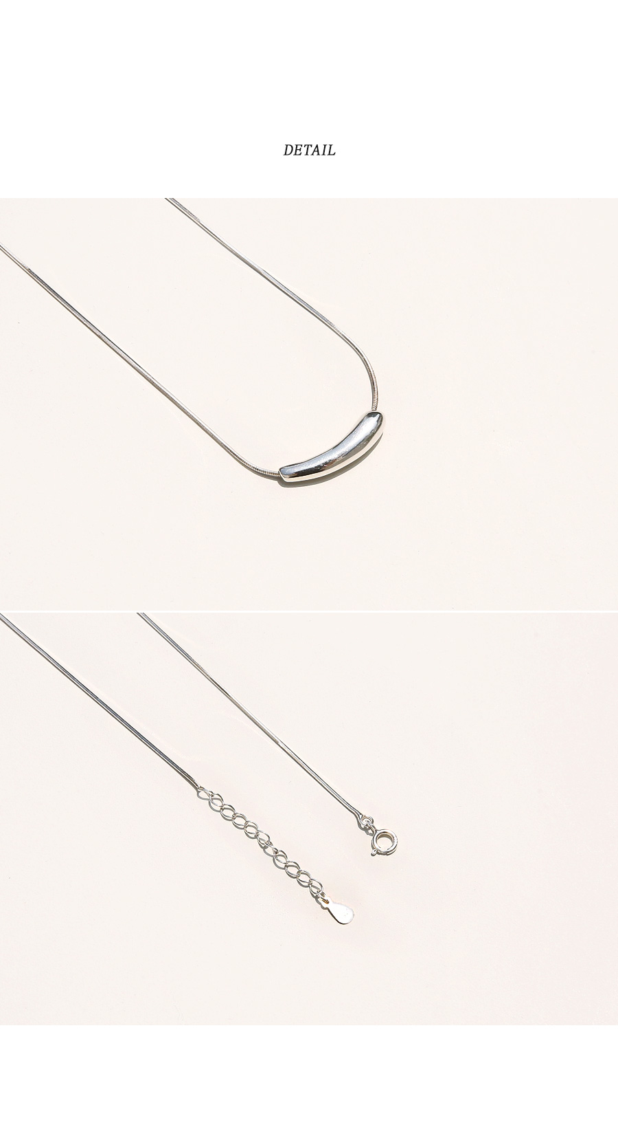 UNBAL BAR 92.5 SILVER NECKLACE