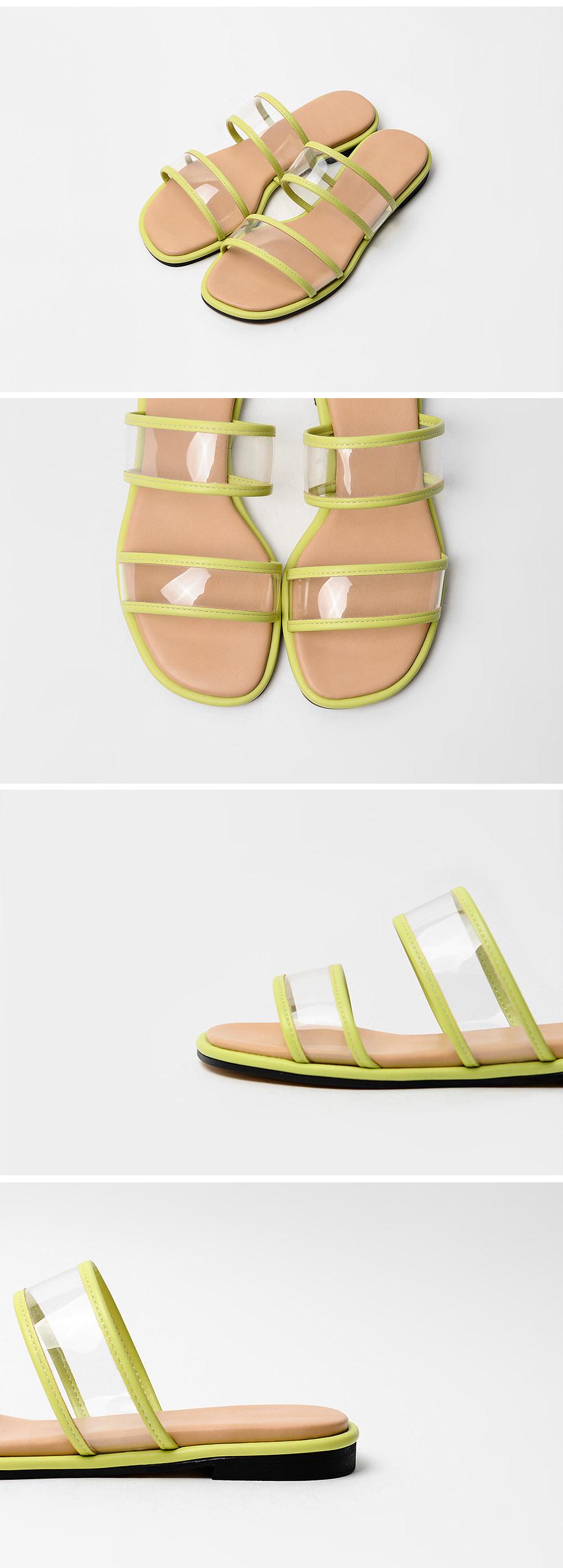 This felon PVC slippers 2cm