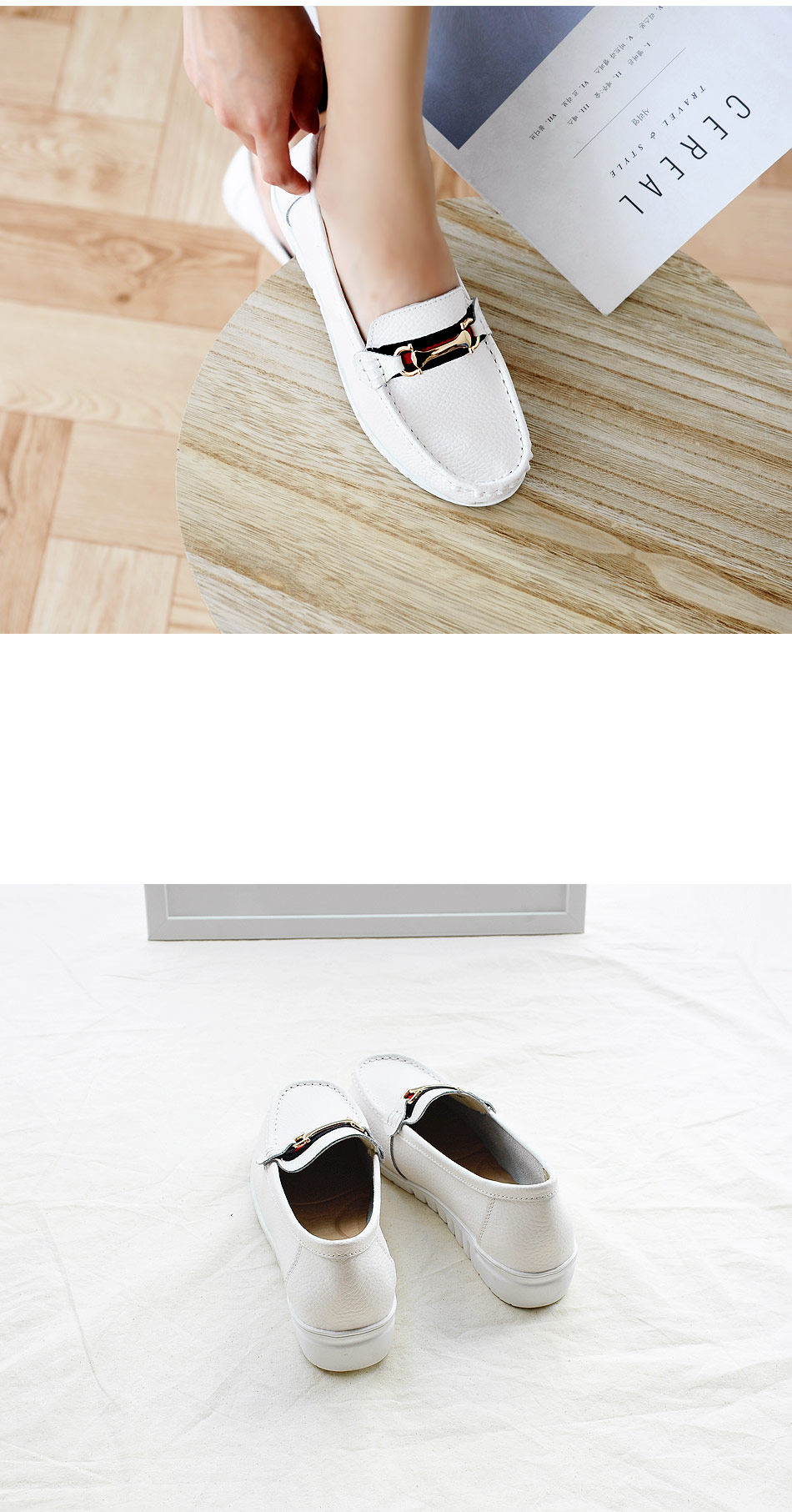 Le File Leather Loafers 3cm