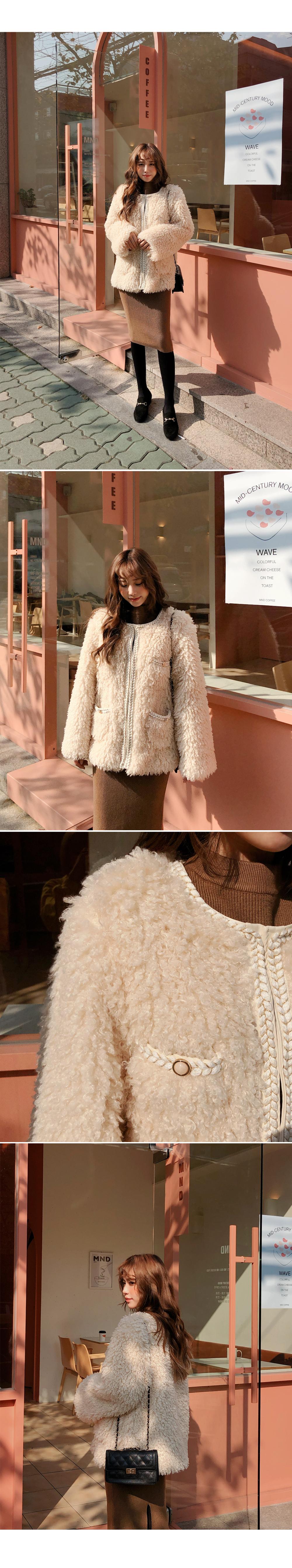 Elegant mood fur jacket