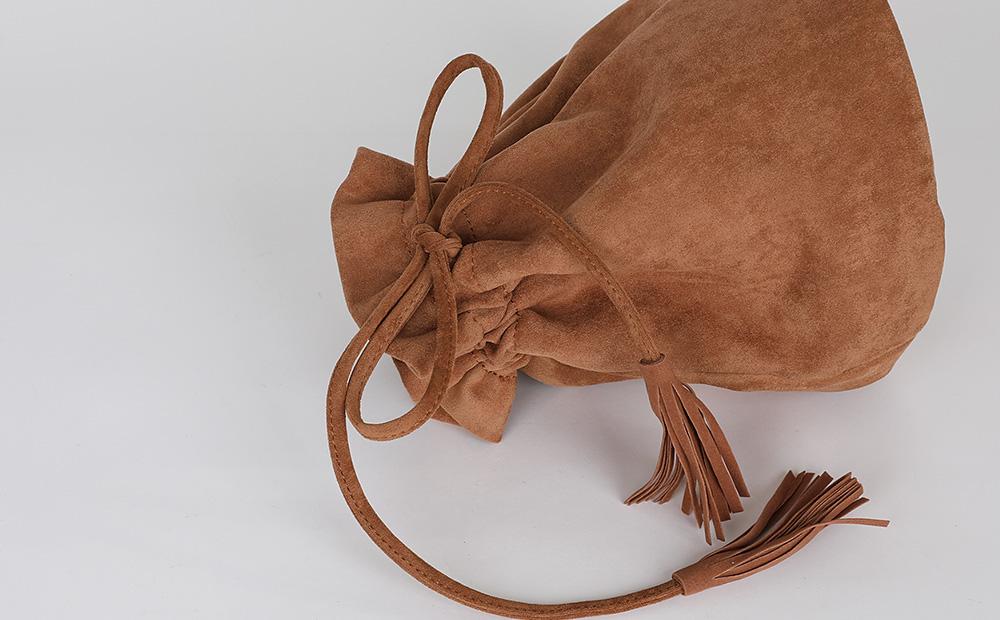 Lillian Tassel suede shoulder bag