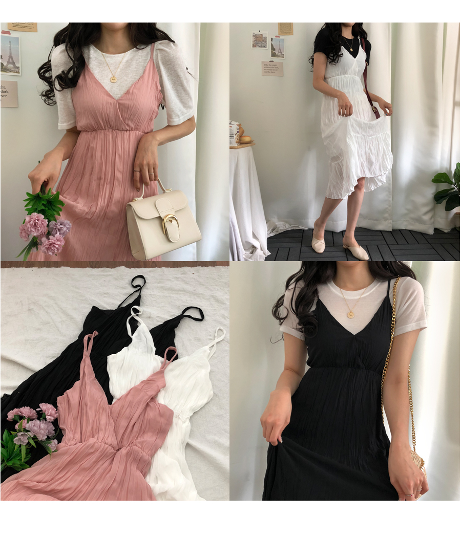 Afternoon pleated bustier dress