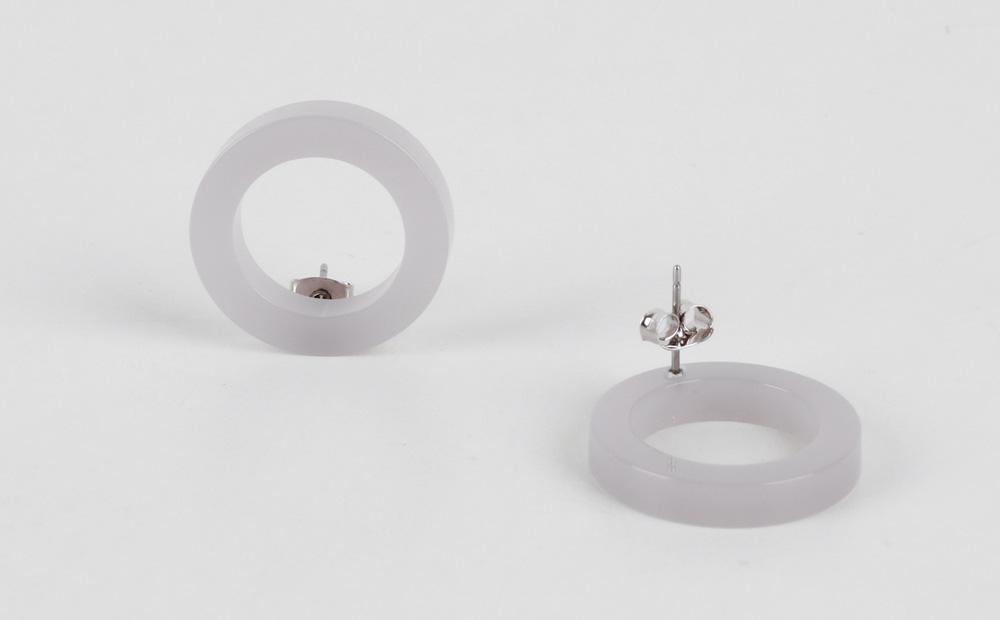 Rhea color circle earrings
