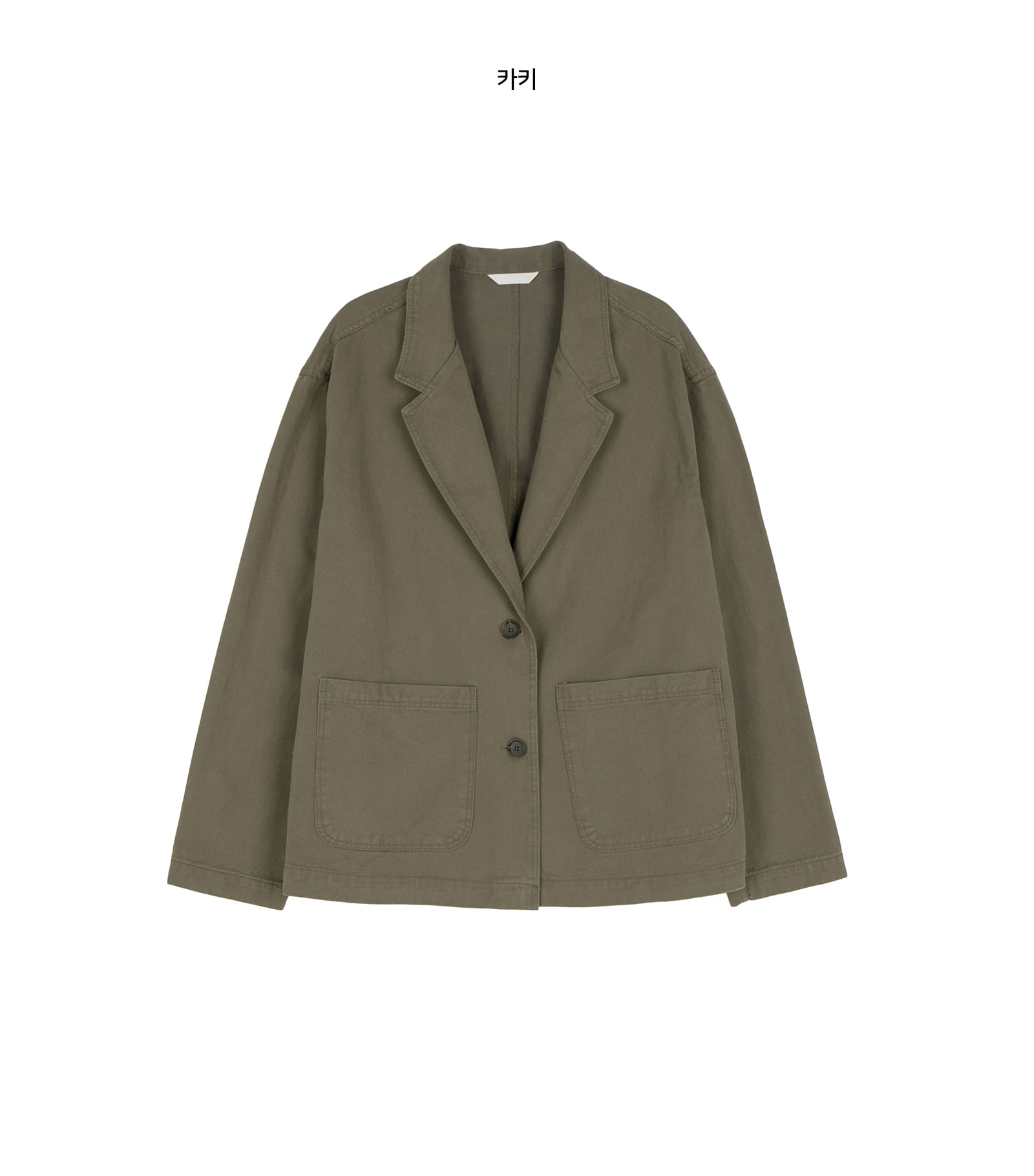 Drop cotton single jacket