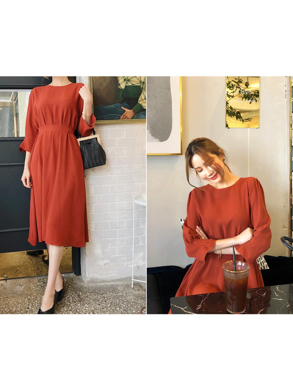Women's waistline dress