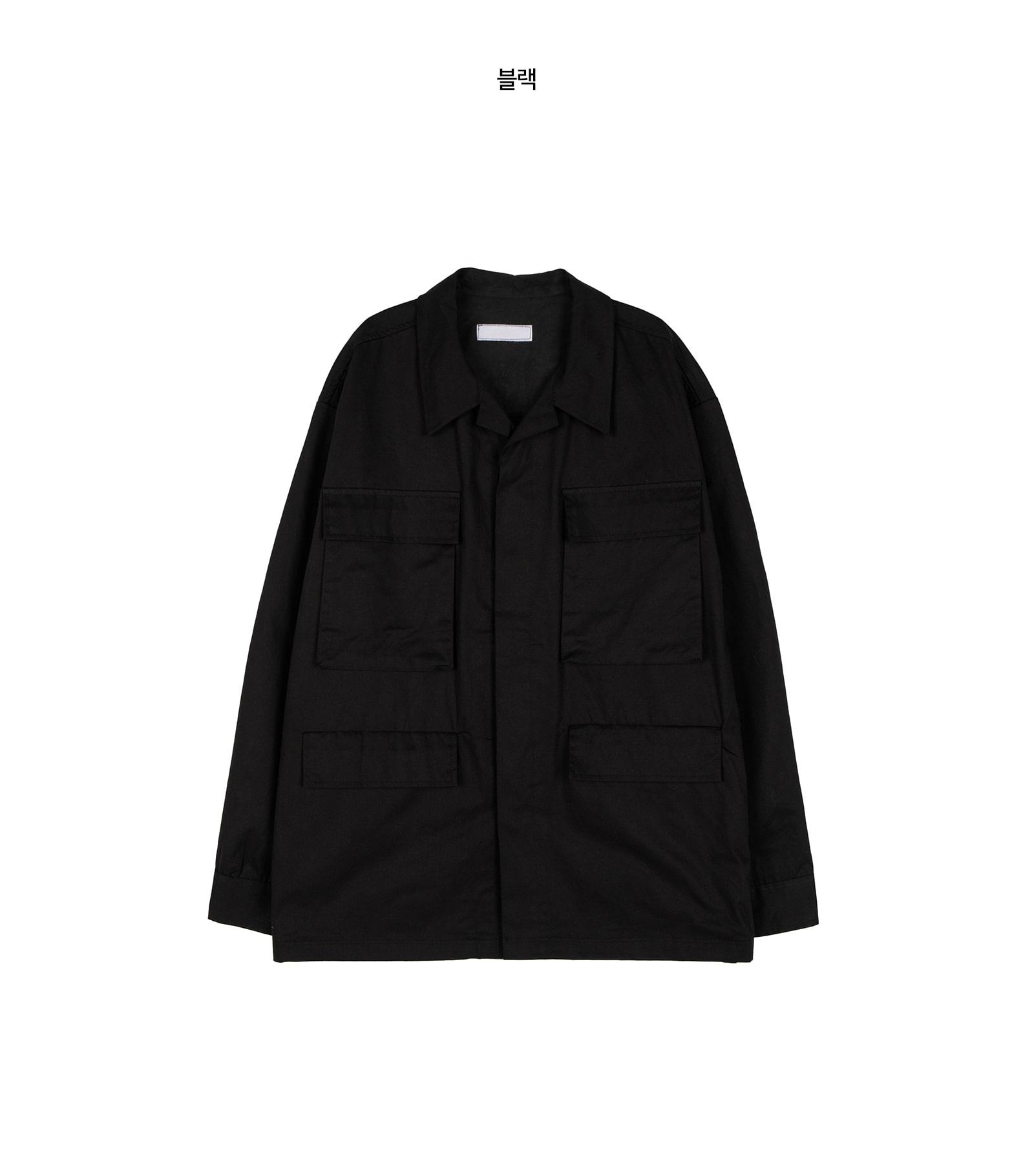 Unisex collar pocket cotton jacket