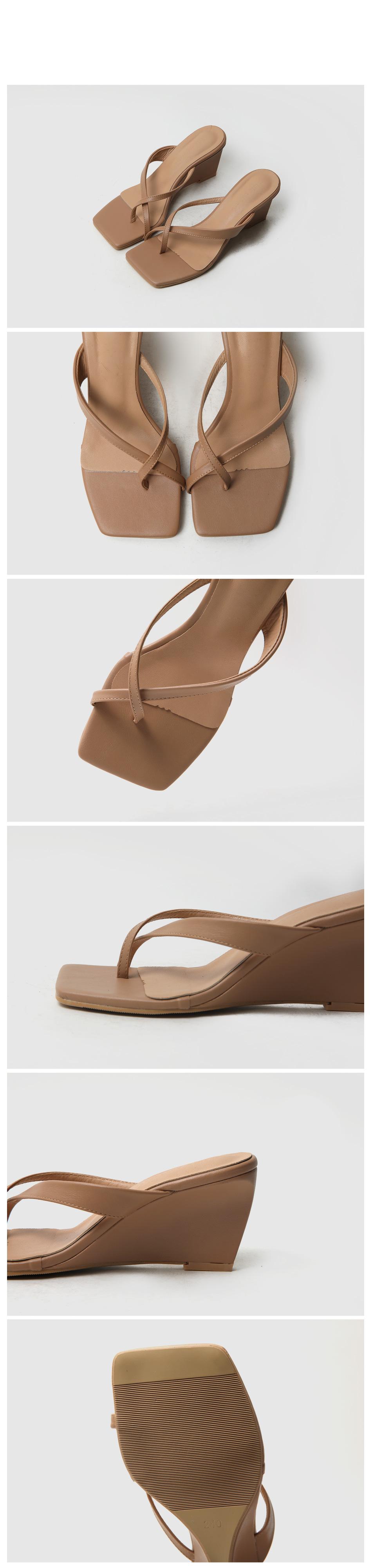 Reeve Wedge Split Mule Slippers 7cm