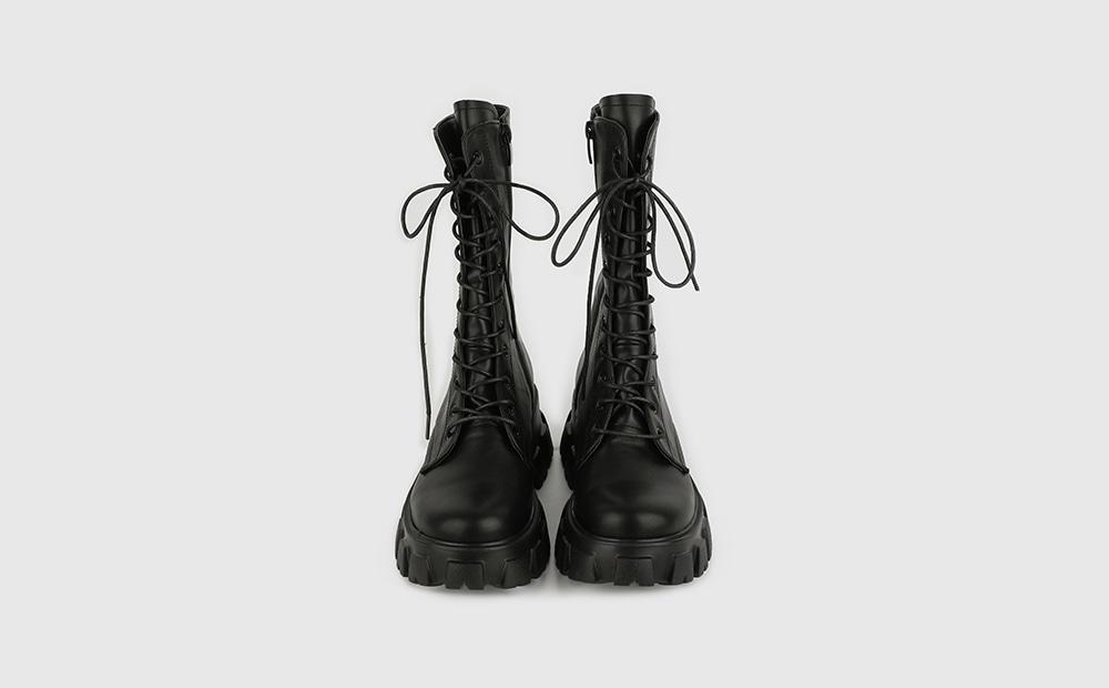 Bike lace-up walker boots